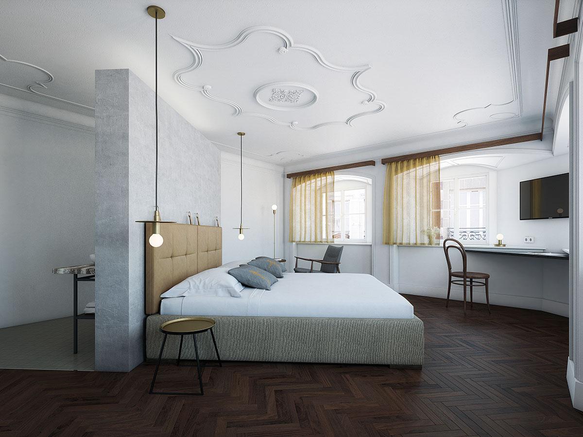das Tschofen – Hotelzimmer