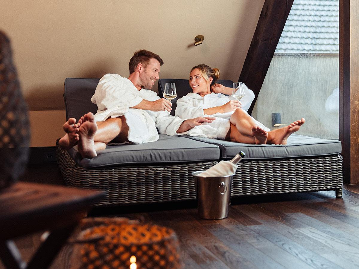 Entspannen nach der Sauna